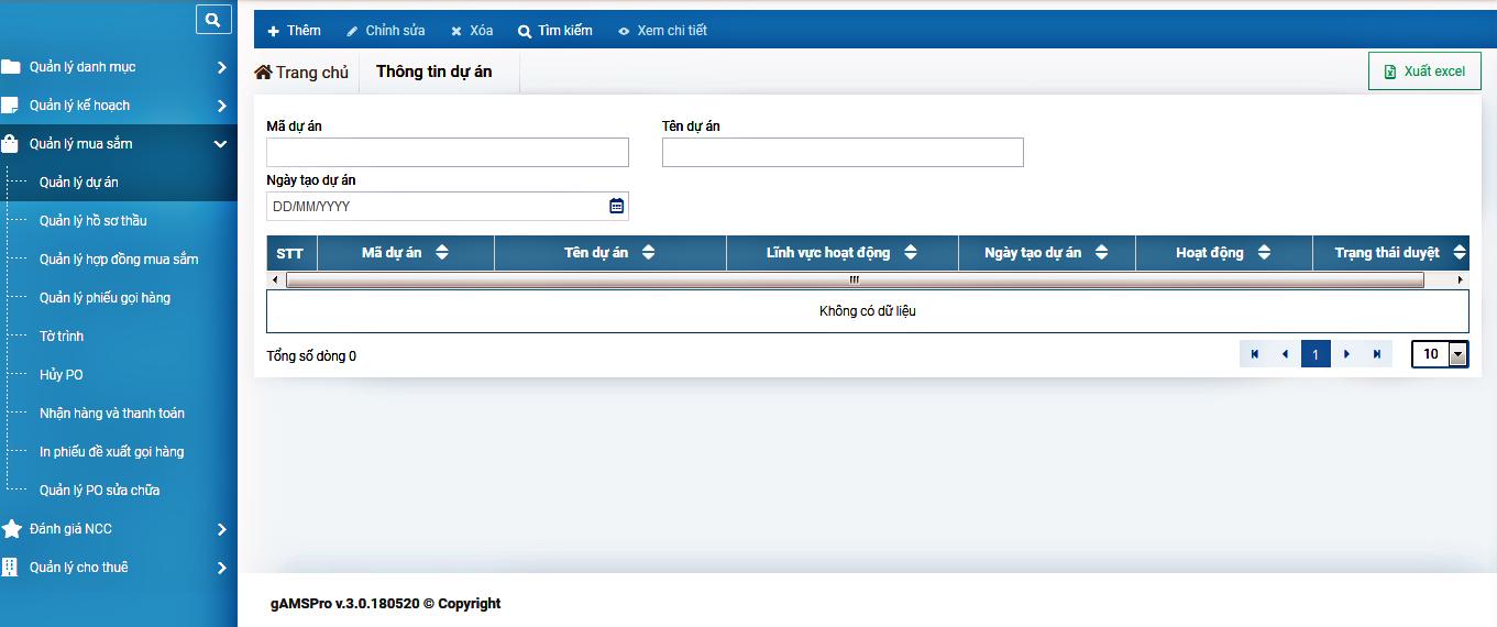 Quản lý kho vật liệu bằng phần mềm quản lý tài sản gAMSPro